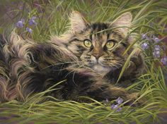 """In the Grass"", oil on panel, 9"" x 12"", by Lucie Bilodeau."
