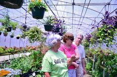 """<div class=""""source"""">Jessica Britton/for Carolina Gateway</div><div class=""""image-desc"""">Elaine Adkins helps Stephen and Mary Jane Janson pick out plants at Griff's Greenhouse, one of Lancaster County's Ag+Art Tour sites last summer. This year, the tour is expanding to cover 11 counties, with several each weekend in June. Lancaster County's tour will be June 17-18.</div><div class=""""buy-pic""""><a href=""""/photo_select/24402"""">Buy this photo</a></div>"""