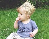 The Kingston|| unisex FULL SIZE gold lace crown || photography prop|| Child-Adult || custom sizes
