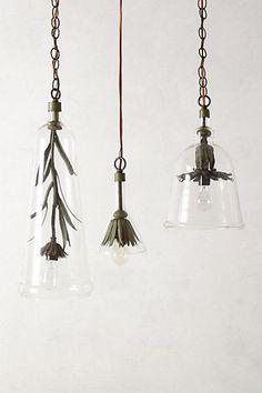 Iron Petals Pendant Lamp #anthropologie