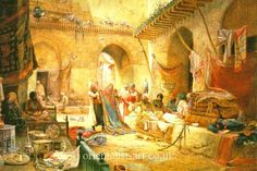 Carpet Bazaar Cairo 1887 by Charles Robertson
