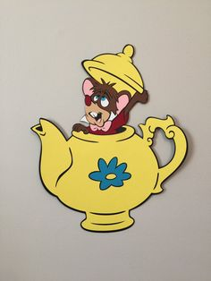 The Dormouse Mouse in Teapot Alice in Wonderland Party Decoration