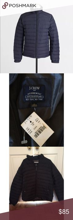 J. Crew Men's Puffer Tundra Winter Coat Jacket NWT TUNDRA PUFFER WINTER JACKET  NEW WITH TAGS   MENS LARGE  $168 RETAIL  PRODUCT DETAILS Updated with a new lightweight design. Poly shell and lining. Down and poly fill. Zip closure. Welt pockets with snap closure, interior patch pocket. Lined. Machine wash. J. Crew Jackets & Coats Puffers