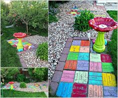 Recycle Old Bricks into a Colorful Yard Art Like This 10 Creative Indoor and Outdoor Brick Projects to Try 6