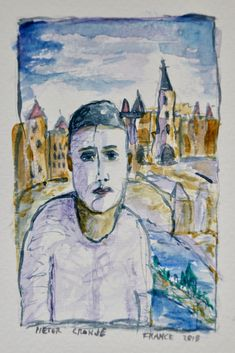 Watercolour Clown in Carcassonne France Carcassonne France, Holidays France, Watercolour, Faces, Painting, Art, Pen And Wash, Art Background, Watercolor Painting