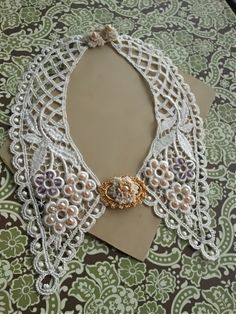 Pearl Collar- Lace with Amethyst