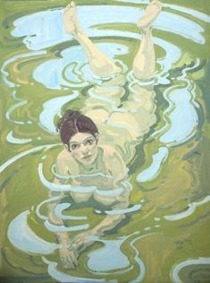 Figure in Water - Neil Welliver