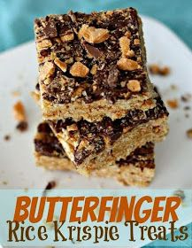 Recipes, Dinner Ideas, Healthy Recipes & Food Guide: Butterfinger Rice Kripsie Treats