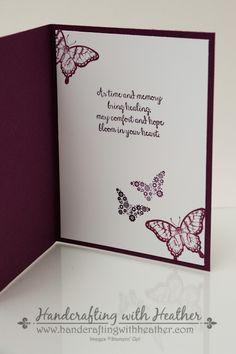 Swallowtail Sympathy Card (6 of 5). Rich Razzleberry & Blackberry Bliss