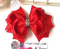 Red Boutique Hair bow, girls hair bow ,hair accessories ,red fancy hair bow