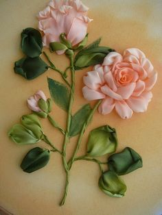 Wonderful Ribbon Embroidery Flowers by Hand Ideas. Enchanting Ribbon Embroidery Flowers by Hand Ideas. Ribbon Embroidery Tutorial, Silk Ribbon Embroidery, Embroidery Applique, Embroidery Stitches, Embroidery Patterns, Embroidery Supplies, Embroidery Techniques, Machine Embroidery, Ribbon Art