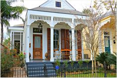 Love the Natural Wood Door and Shutter, New Orleans Homes