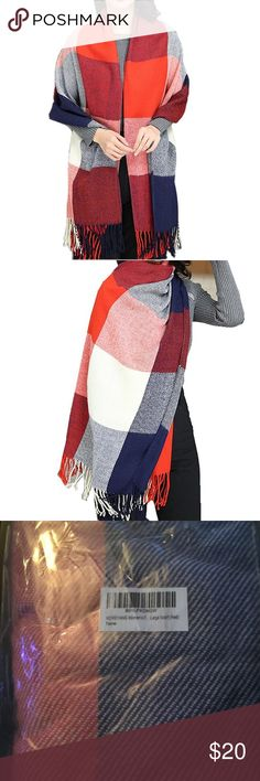 Women's Long Plaid Warm Lattice Shawl/Scarf Women's Long Plaid Warm Lattice Shawl/Scarf. Soft and no pilling, very large, length is 79, width is 23, can be used as a shawls, scarves, or wrap, dual-purpose. Cotton. New in bag. A great gift. Feel free to make an offer or bundle & save! Accessories Scarves & Wraps