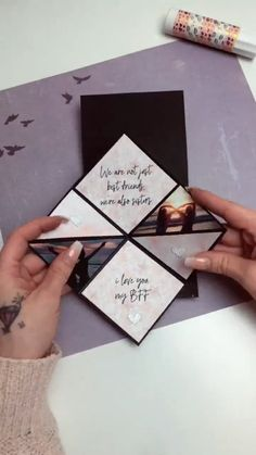 Pliage papier gifts for boyfriend diy videos crafts Diy Crafts Hacks, Diy Crafts For Gifts, Diy Home Crafts, Diy Projects, Diy Bff Gifts, Cork Crafts, Wooden Crafts, Creative Gifts For Boyfriend, Handmade Gifts For Boyfriend