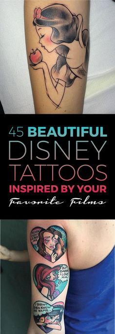 45 Beautiful Disney Tattoos Inspired by Your Favorite Films | TattooBlend