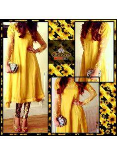 Stylish Yellow/Black Dress