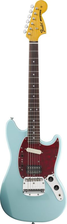 FEnder Kurt Cobain Mustang Electric Guitar - Sonic Blue | Small White Mouse