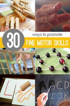 Children can work on their fine motor skills with these suggested materials and fine motor activities geared for young kids.