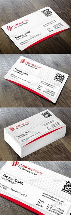 "Corporate Business Card #GraphicRiver Features: › Single-sided › Horizontal Business Card › Rounded Corners (0.125"") + Square Corners › CMYK Color Mode › 300 DPI High Resolution › Easy to customize color & edit text › 3.5"" x 2"" (3.75"" x 2.25"" with bleeds + trim) › Print ready › QR code All layers can be changed, you can replace all the information on the business card in easy way with just a few clicks. Font: Diavlo Please don't forget to rate this item. Created: 16October13…"