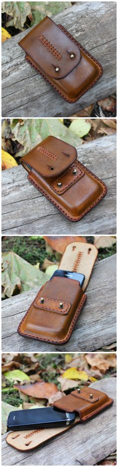 handmade leather phone holder case