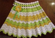 ZigZag Skirt free crochet graph pattern