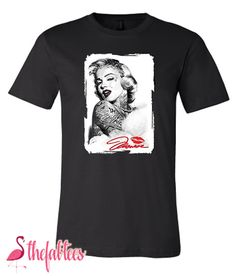 Marilyn Tattoo T-Shirt Marilyn Tattoo, Marilyn Monroe T Shirts, Tattoo T Shirts, Girls, Mens Tops, Design, Style, Fashion, Toddler Girls