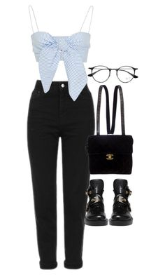 """""""Sem título #1501"""" by oh-its-anna ❤ liked on Polyvore featuring Topshop, Leal Daccarett, Balenciaga, Chanel and Ray-Ban"""