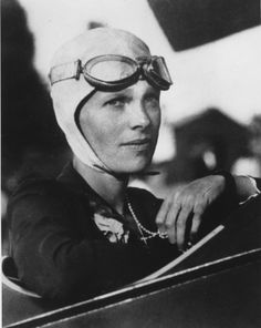 Amelia Earhart, the first woman ever and the second person to fly solo across the Atlantic #WomenRock