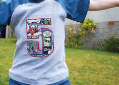 super hero t shirt by sewquine@theochiltree, via Flickr RAGLAN shirt pattern