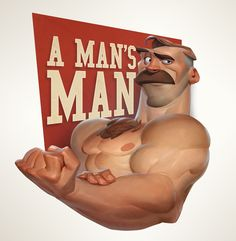 A MAN'S MAN, Max Grecke on ArtStation at https://www.artstation.com/artwork/QPln8