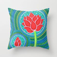 Lotus Family of 3 Throw Pillow by Elspeth McLean - $20.00