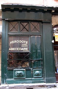 Lyon, France~vieille (old/used) bookstore by christine.petitjean, via Flickr