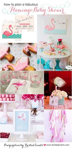 Fabulous flamingo theme baby shower inspiration board via frosted events pink flamingo party, pink and mint, pink and gold ideas and Flamingo Party, Flamingo Baby Shower, Flamingo Nursery, Flamingo Birthday, Baby Shower Table Decorations, Baby Shower Centerpieces, Baby Shower Checklist, Baby Shower Printables, Pink Invitations