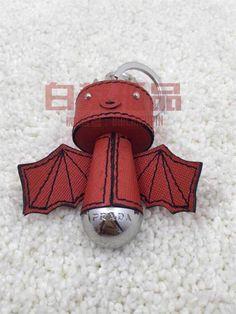 PRADA 全真皮挂坠 天使与恶魔 钥匙扣/包包挂件 淘宝