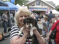 A new best friend, adopted at Ridgewood Veterinary Hospital's Adopt-A-Pet Day.