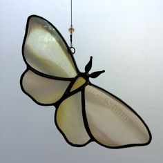 Stained Glass Moth Butterfly by MaidontheMoonGlass on Etsy