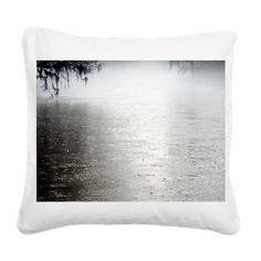 Rain On The Flint Square Canvas Pillow