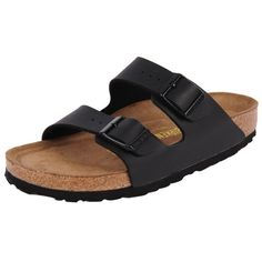 Birkenstock Arizona ($110) ❤ liked on Polyvore featuring shoes, sandals, black, cork footbed sandals, birkenstock, black suede sandals, birkenstock sandals and suede leather shoes