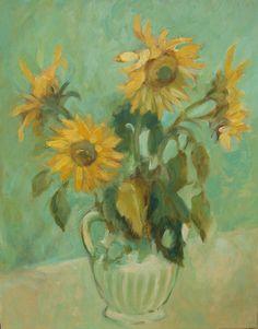 Sunflower II - Painting ©2015 przez ANNA  BARDZKA -  Malarstwo