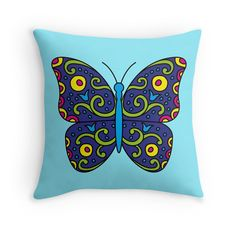 """""""Butterfly"""" Throw Pillows by fishdesigns"""