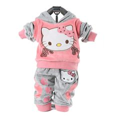 5835ae931ecf Baby Girls clothing set Kids 2pcs clothes set girls hoody pants suit children  cartoon sport suits tracksuit clothes free shippin-in Clothing Sets from ...