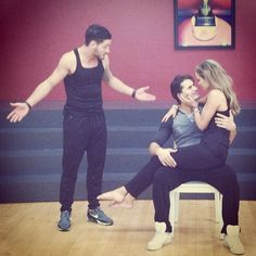 Val,Elizabeth and Gleb at rehearsal.