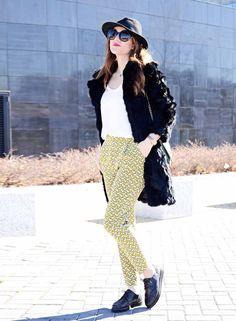 ¿ Cómo combinar un pantalón de estampado Geométrico ? #kissmylook