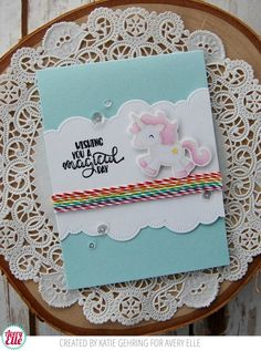 Magical Unicorn Birthday Card {Avery Elle} (Stamping Lightly)