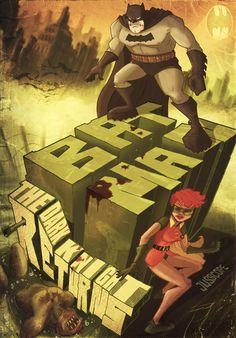 Batman: The Dark Knight Returns - Justin Orr Comic Style Art, Comic Styles, Batman The Dark Knight, Nightwing, Batgirl, Comic Books Art, Comic Art, Nananana Batman, Dark Knight Returns