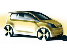 Volkswagen E Up! Concept Sketch