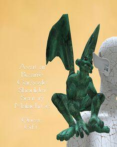 Avatar Bizarre Gargoyle Shoulder Sentry Malachite ~ Quest Gift Burmilla, Malachite, Avatar, Lion Sculpture, Statue, Shoulder, Gifts, Art, Art Background