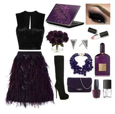 """""""Deep Purple"""" by fashionkat20 ❤ liked on Polyvore featuring Giuseppe Zanotti, Nearly Natural, French Connection, Kenneth Jay Lane, Isabel Marant, Judith Leiber, OPI, NARS Cosmetics, Tom Ford and Sigma Beauty"""