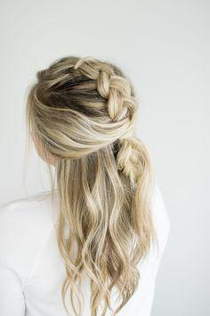 messy mohawk braid tutorial