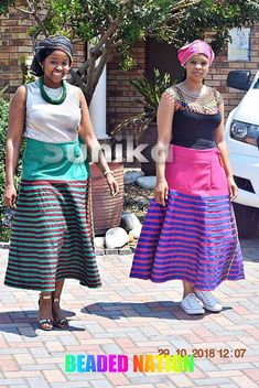 Traditional Xhosa Umbaco Skirts - Sunika Traditional African Clothes African Children, African Women, African Fashion, Kids Fashion, Xhosa Attire, African Attire, African Dress, Emo Dresses, Party Dresses